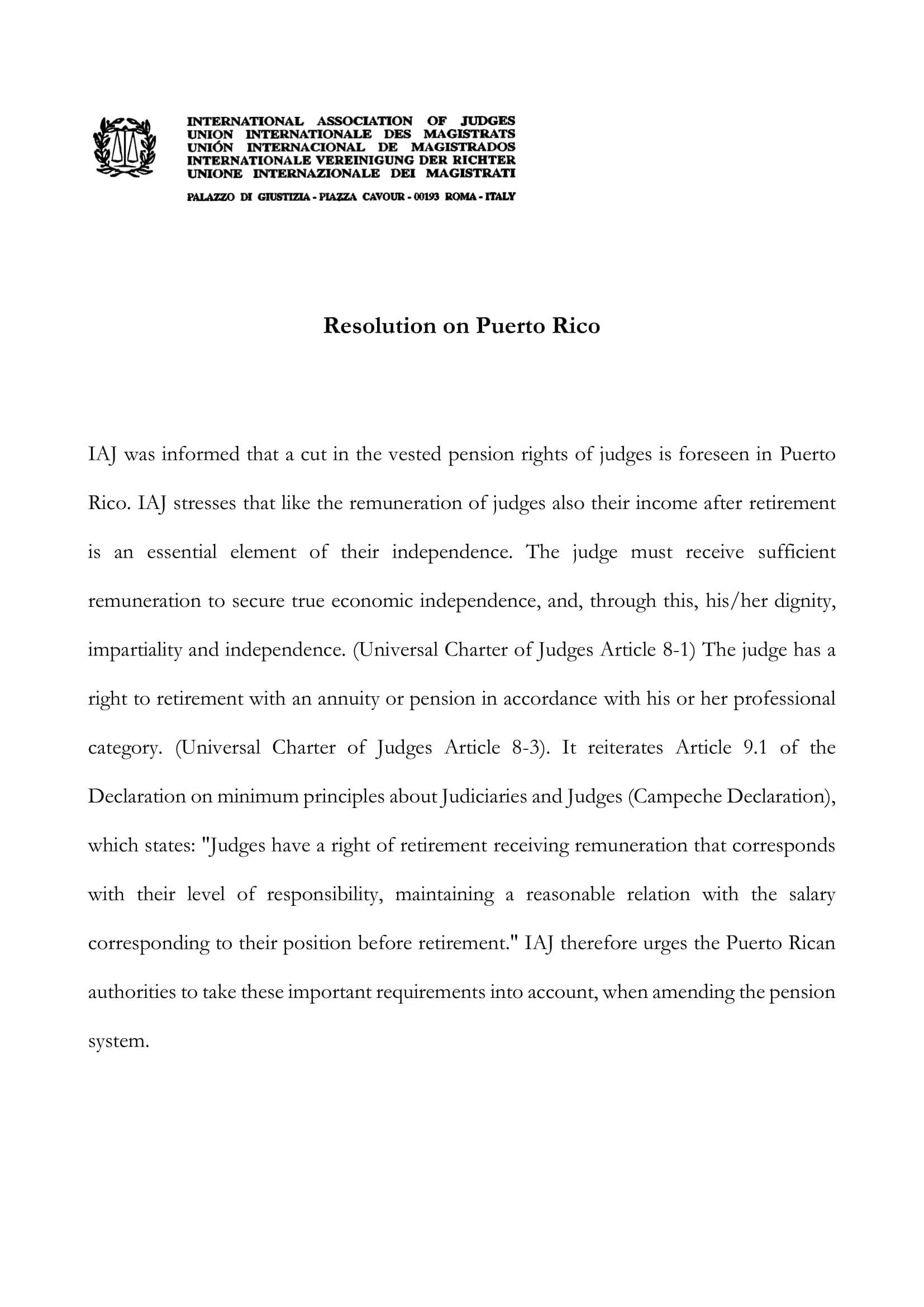 Resolution on Puerto Rico EN 1
